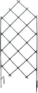 Achla Designs FT-30 Freestanding Lattice Wrought Iron Garden Trellis, Graphite