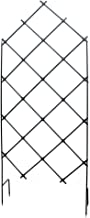 Achla Designs FT-30 Freestanding Lattice Wrought Iron Garden Trellis, Graphite