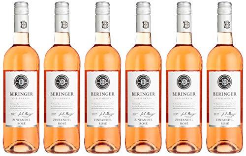 Beringer Classic Zinfandel Rose  lieblich Wein (6 x 0.75 l)
