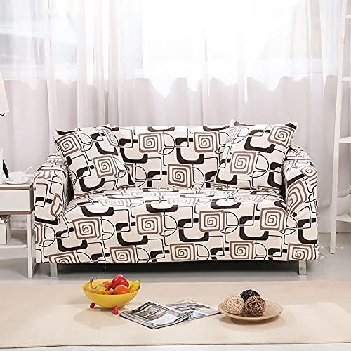 WXQY Funda elástica para Muebles,Funda para sofá elástica para Sala de Estar,Funda para sofá para sillón,Funda para sofá Todo Incluido para decoración del hogar A4 3 plazas