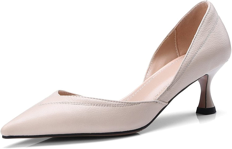 Nine Seven Genuine Leather Women's Pointy Toe Stiletto Heel Elegant Business Handmade Cute Pump shoes