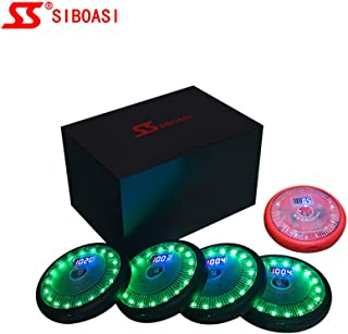 SIBOASI Sports Agility Training Lights, Sets of 5 Speed Drills Fitness Lights, Portable Reaction Lights for Basketball, Soccer, Lacrosse,etc, Boxing Reflex Lights