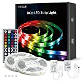 LED Strip Lights, MESUN 32.8ft 10m RGB Light Strip Kits with Remote for Room, Ceiling, Bedroom, TV, Kitchen, Desk, Color Changing Led Strip Bright SMD5050 with 3M Adhesive and Clips