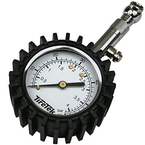 TireTek Reifendruckmesser Reifendruckprüfer für Auto und Motorrad I ANSI zertifizierter Luftdruckprüfer mit 360° Drehkopf, Luftdruckmesser 0-60 psi I 4 bar