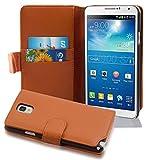 Cadorabo Custodia Libro per Samsung Galaxy NOTE 3 in MARRONE CIOCCOLATA - con Vani di Carte e Funzione Stand di Similpelle Strutturata - Portafoglio Cover Case Wallet Book Etui Protezione