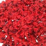 CODE FLORIST 2200 PCS Dark-Red Silk Rose...