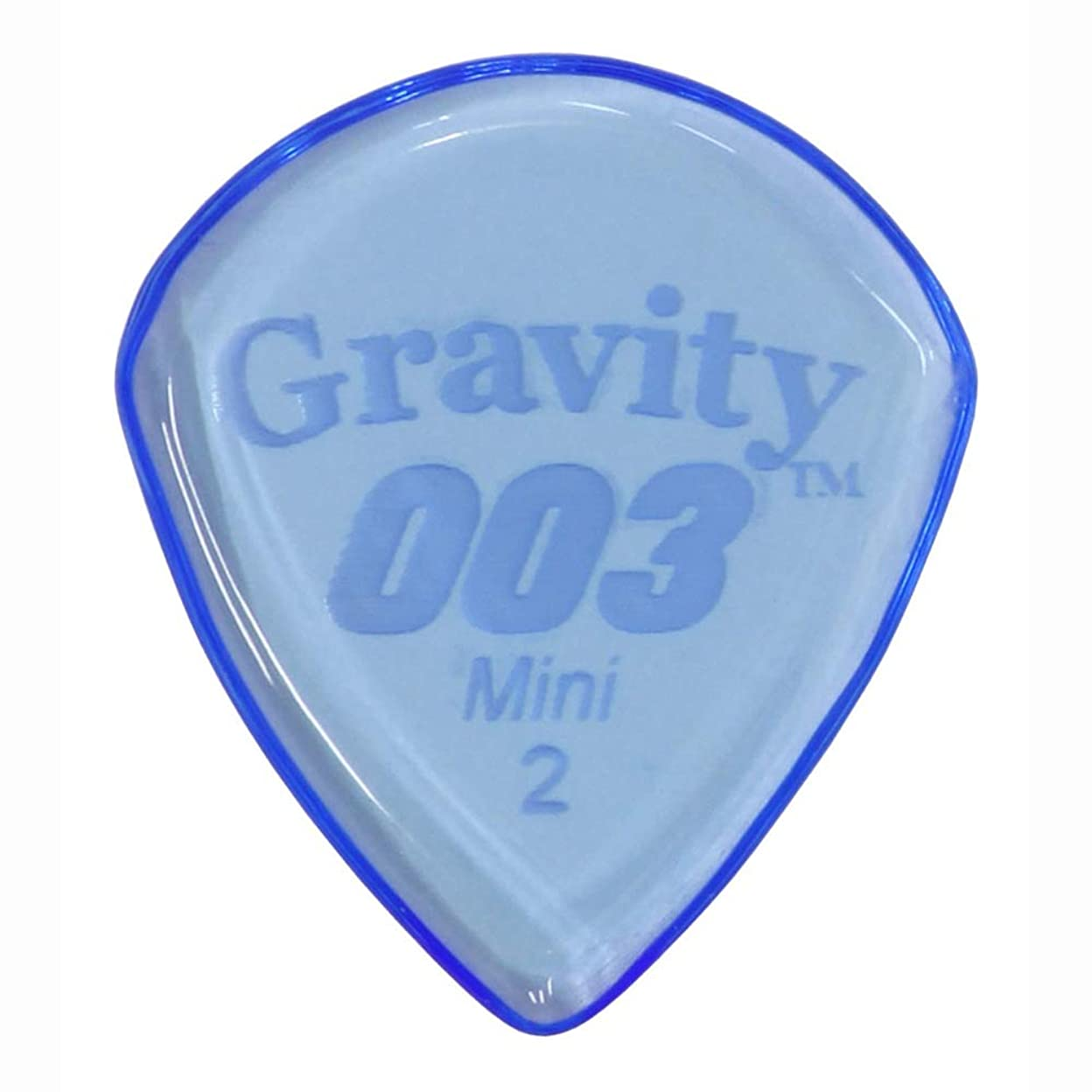 純粋に森林性差別GRAVITY GUITAR PICKS G003M2P 003 Standard Mini 2.0mm Blue ピック