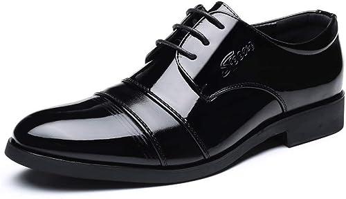 FuWeißncore 2018 Herren Oxfords Flache Ferse Spitz Gentlemen Muture Business Schuhe (Farbe   Schwarz Größe   38 EU) (Farbe   Schwarz Größe   39 EU)