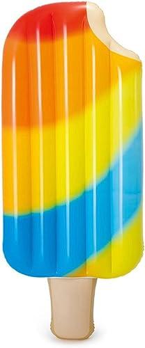 Limin Aufblasbare schwimmende Reihe Eiscreme Sich hin- und herbewegende Bettwasserbett Strand Aufblasbares Kissen erwachsener Einzelperson