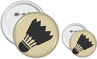 Badminton Sport Simple Géométrie Motif Pin's Badge Design Kit Artisanat