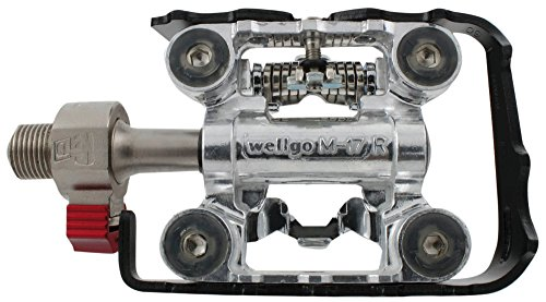 Wellgo Pedale semiaperto Clip-on, Alluminio