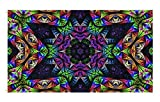 WIM Scientific Laboratories Psychedelic Fractal Festival Flag Rave Tapestry | 3 x 5 FT