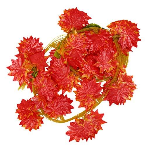 VILLCASE 30 Stück Große Blatt Rebe Dekor Pflanzen Reben Gefälschte Grüne Girlanden Wandbehang Dekoration für Hausgarten Büro Party Hochzeit Reben