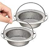 Sandiy Filtro Fregadero, Coladores de desagüe de acero inoxidable con asa para levantar fácilmente, diámetro 11cm