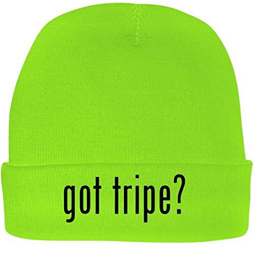 Shirt Me Up got Tripe? - A Nice Beanie Cap, Neon Green, OSFA