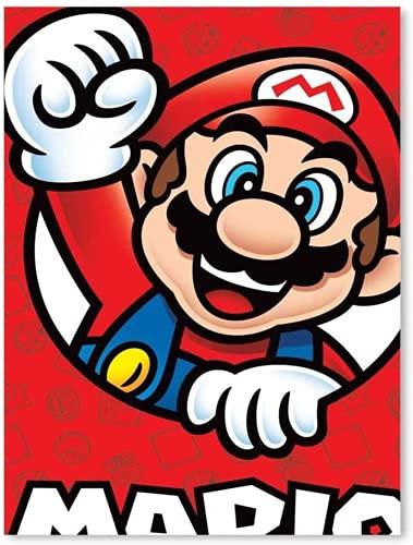 AMCYT Póster de Super Mario de Nintendo de lona, tamaño grande, 12 x 16 pulgadas (noframe, 60 x 90 cm)