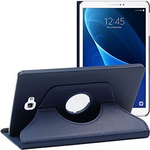 ebestStar - Funda Compatible con Samsung Galaxy Tab A6 A 10.1 (2018, 2016) T580 T585 Carcasa Cuero PU, Giratoria 360 Grados, Función de Soporte, Azul Oscuro [Aparato: 254.2 x 155.3 x 8.2mm, 10.1'']