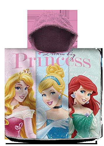 Princesses Poncho de Plage en Coton pour Enfants 120 x 60 cm Multicolore Taille Unique