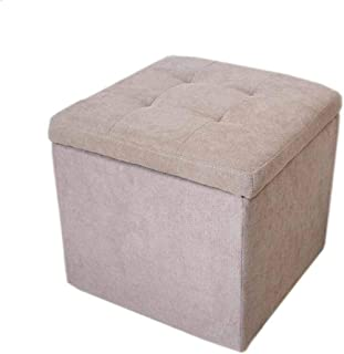GWFVA StoolFootrest Change Shoe Bench Stool Chiffon de Salle de séjour pour ménage Multifonction -41 * 41 * 39cm (Couleur:...
