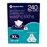 Members Mark OdfdZG Adult Premium Disposable Washcloth Value Pack, 240ct Carton (2 Pack)