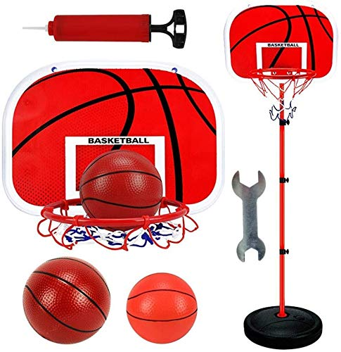 Aro de Baloncesto Set de aro y Soporte de Baloncesto - Stand de Baloncesto Ajustable de Altura con inflador para niños Deportes de Interior al Aire Libre, tamaño: 1.7m Tablero portátil (Size : 1.5m)
