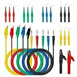 20 IN 1 Kit de sonda de respaldo automotriz 5 colores Clavijas de sonda posterior Conector tipo banana a pinza de cocodrilo de cobre Multímetro Cables de prueba para diagnóstico automático
