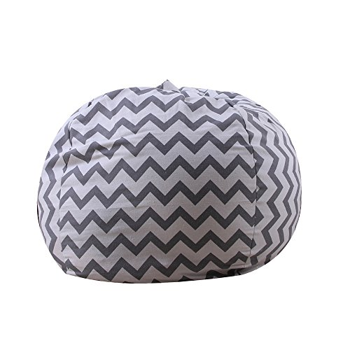 Home Storage  Kids Stuffed Animal Plush Toy Storage Bean Bag Soft Pouch Stripe Fabric Chair Home & Garden Housekeeping & Organizers Christmas for Faclot