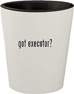 got executor? - White Outer & Black Inner Ceramic 1.5oz Shot Glass