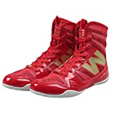 TTXST Men's Boxing Boot Martial Arts Shoes Boxing Shoes Martial Arts Sanda Training Fitness High Shoes Fighting Wrestling Boxing Training Shoes,Red,47