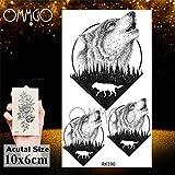 5Pcs- géométrique Hummingbird Lion autocollant de tatouage Hommes Femmes Tatouage Howl Tato Le bras Body Art Tattoo sur Ork190