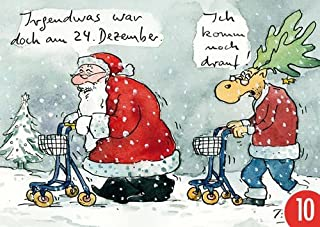 Pack de 10: Postal A6+ + + Navidad de Modern Times + + + desvive War pero AM 24. diciembre + + + Muñeco de dibujos animados Concept© Gay, Peter