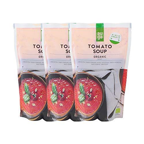 【3個セット】有機JAS AUGA オーガニック トマトスープ MUSO 400gx3