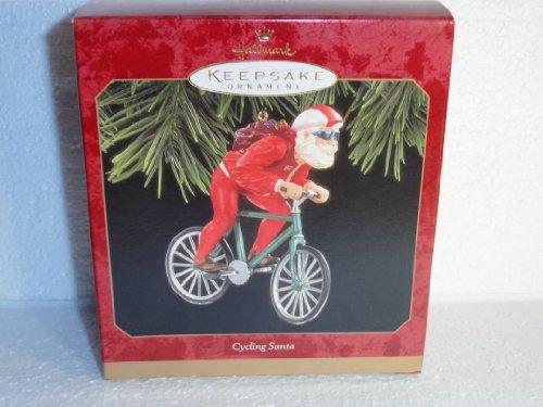 Hallmark 1997 Cycling Santa Claus Bike Bicycle Ornament