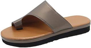 ZUOX Claquette Homme Sandales Mules,Pantoufles à Bout Ouvert pour Femmes, Sandales à Plateforme-Bronze_38,Sandales Bout Ou...