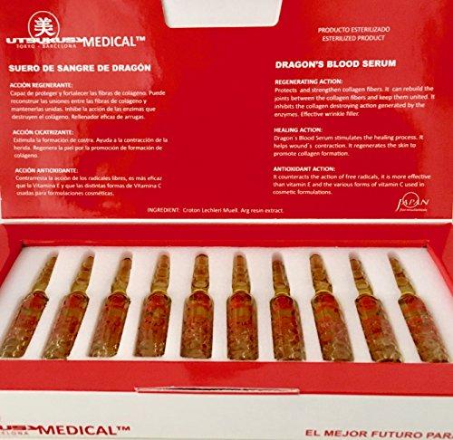 Dragon Blood Serum - steriles Serum ideal für Microneedling mit Dermapen bzw. Dermaroller o. nach einem Peeling - Anti-Aging/Anti-Falten Behandlung - 10 Wirkstoff-Ampullen mit 2 ml