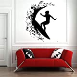 zqyjhkou Skater Boy Wall Sticker Skateboarding Wall Decasl Boy Bedroom Extreme Sports Mural Nursery Skateboard Vinyl Wall Poster57x73cm