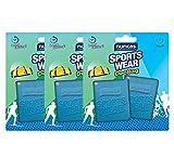 NUNCAS SPORTS WEAR Set de 3 paquetes Deo Bag (detergente específico para ropa deportiva).