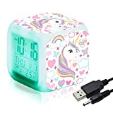 Sveglie digitali Unicorn per ragazze, LED Night...