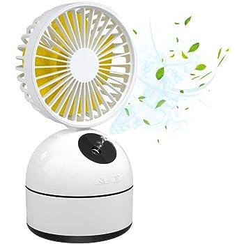 LUXNOVAQ Mini Ventilador USB Fan Ventilador Nebulizador, Mesa ...