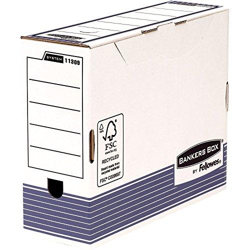 Fellowes Bankers Box System Lot de 10 Boîte d'archives A4+ Dos de 10 cm Bleu