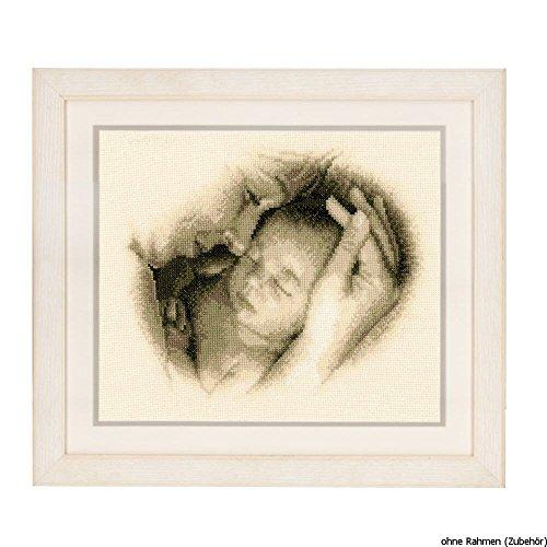 Vervaco - Kit para Cuadro de Punto de Cruz, diseño de bebé y Madre, Multicolor