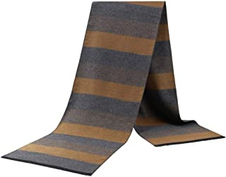 Men Scarves Winter Warm Striped Scarf Acrylic Middle-Aged Casual Classic Simple Style,Perfect Accent to Any Outfit (Color : 04, Size : 175 * 31cm)