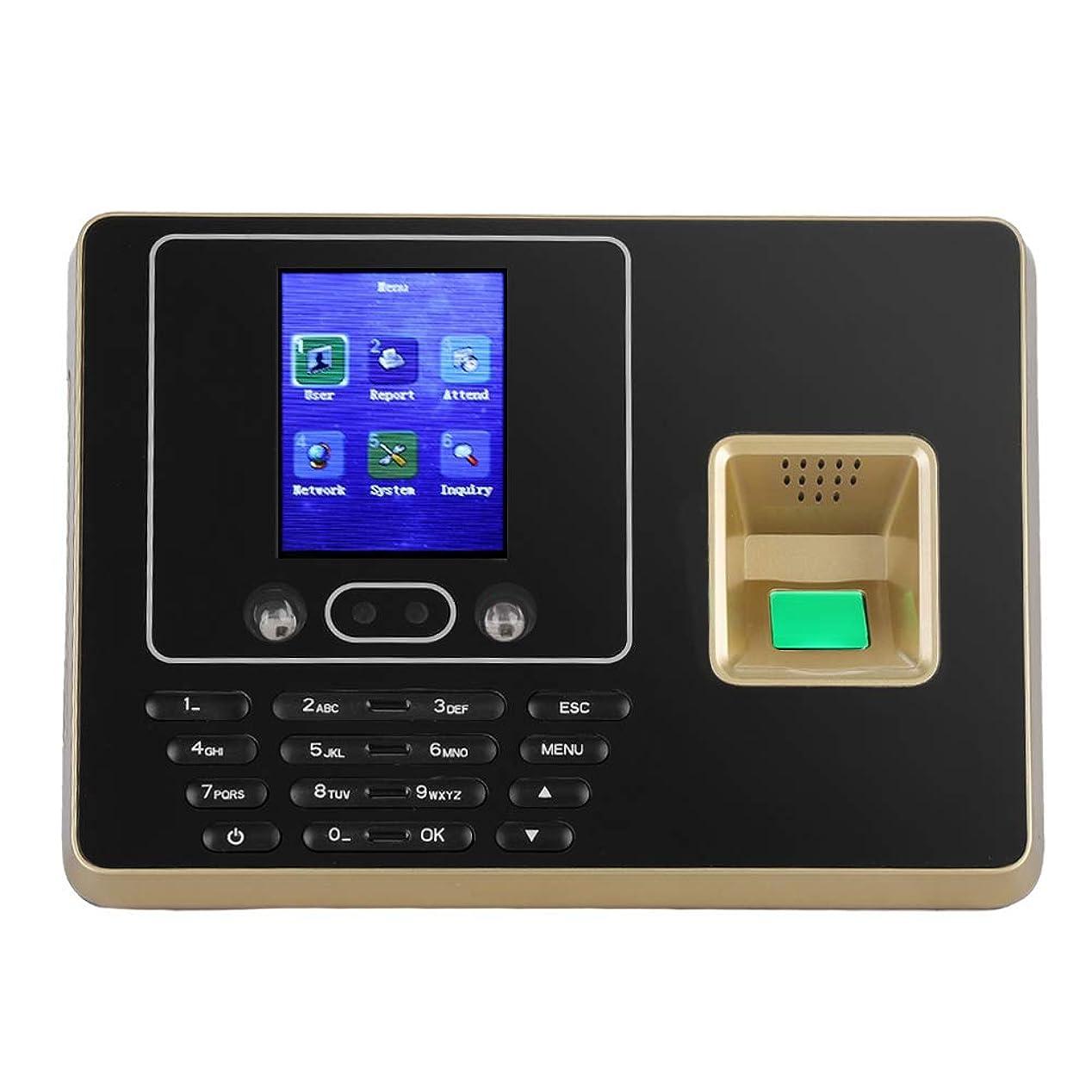 第二比類のないまろやかな指紋認証 VBESTLIFE タイムレコーダー 2.8インチ TFTディスプレイ指紋タイムクロック 指紋 パスワード IDカード 出退勤記録 レコーダーマシン オフィス、工場、ホテル、学校適用(USプラグ)