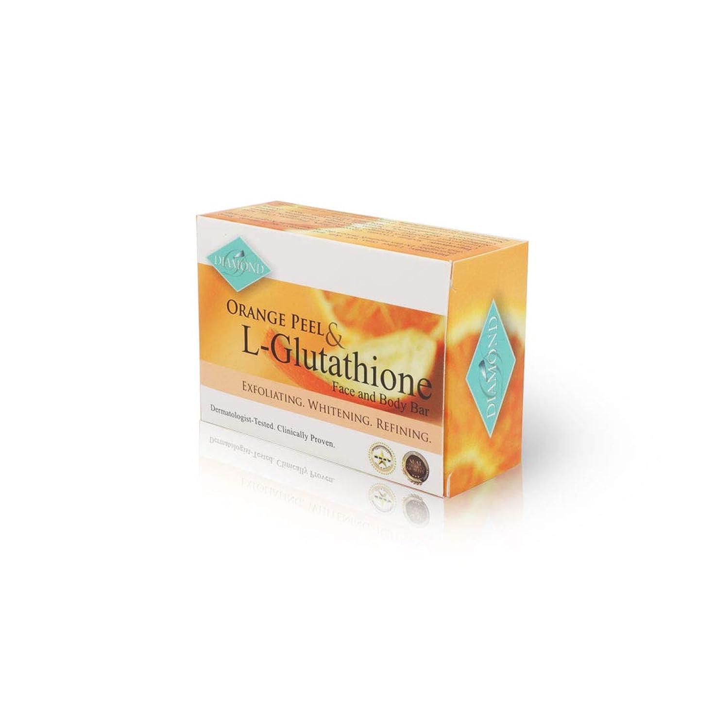 旅客ホステス性的DIAMOND ORANGE PEEL&Glutathione soap/オレンジピール&グルタチオン配合ソープ(美容石けん) 150g 正規輸入品