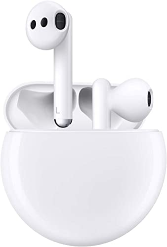HUAWEI FreeBuds 3 Wireless Earphone with Intelligent Noise Cancellation, White ( With Wireless charger )