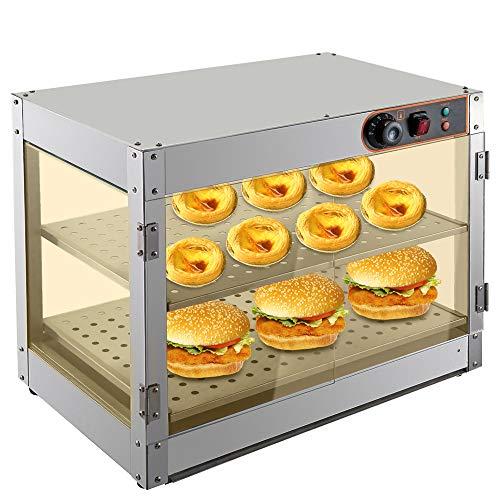 Hornillo de agua para alimentos, vitrina para alimentos, vitrina de alimentos, vitrina de cocina, 30 – 85 °C, 800 W, para cantinas, panaderías, cafeterías, comida rápida