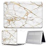 YNLRY Para Apple MacBook Air Pro Retina 11 12 13 15 y nuevo Air 13 / Pro 13 15 Touch Bar varios mármol duro Shell caso del ordenador portátil (color mármol dorado, tamaño: Pro 13 A1706 A1989)