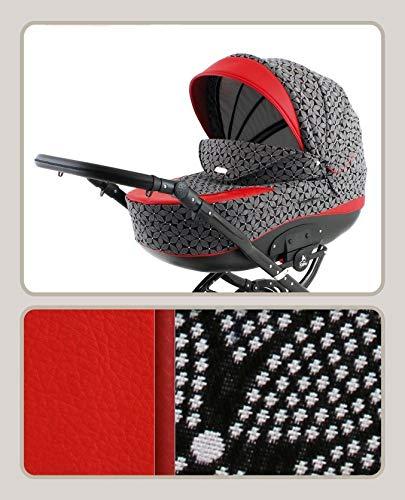 Kinderwagen Retro Autositz Buggy Isofix Luftreifen Nostalgisch TSC by Saintbaby Red T-15 2in1 ohne Babyschale