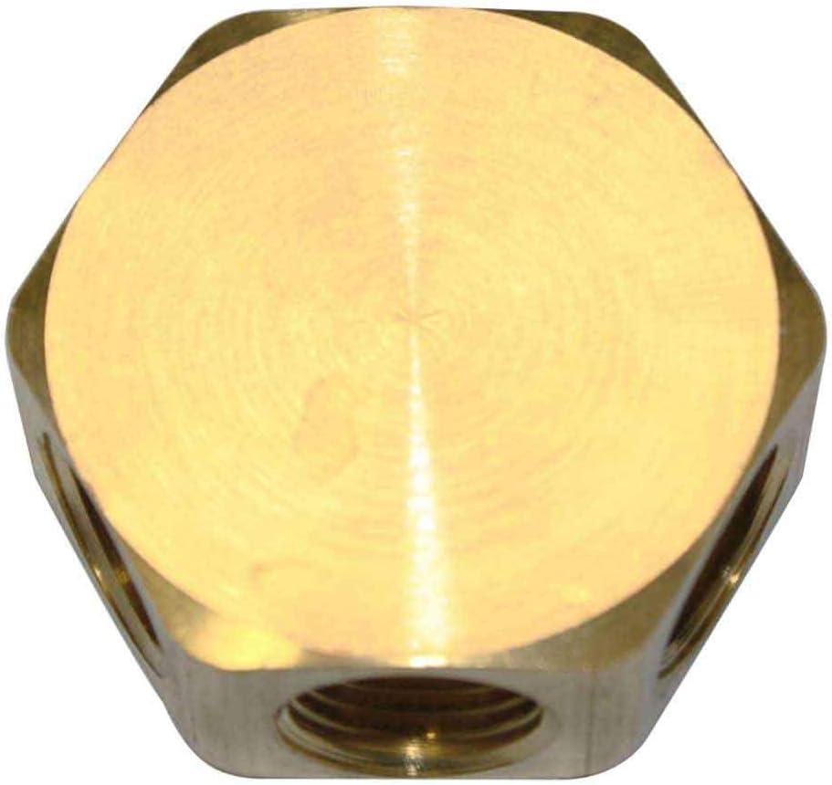 Interstate Pneumatics FPM44R Brass Flat Hex 日本最大級の品揃え Way 予約販売 3 Out - Manifold
