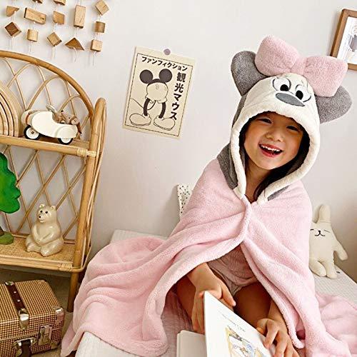 WENBING Toalla de Child - Albornoz niña Ducha Toallas con Capucha por - Capucha Toalla de bambú orgánico para Infantil - Toalla Natural (27.5inX55.1in),A